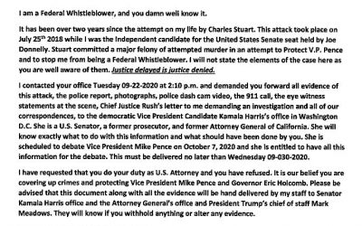 BREAKING NEWS! JOHN'S LETTERS TO U.S. ATTORNEY MINKLER